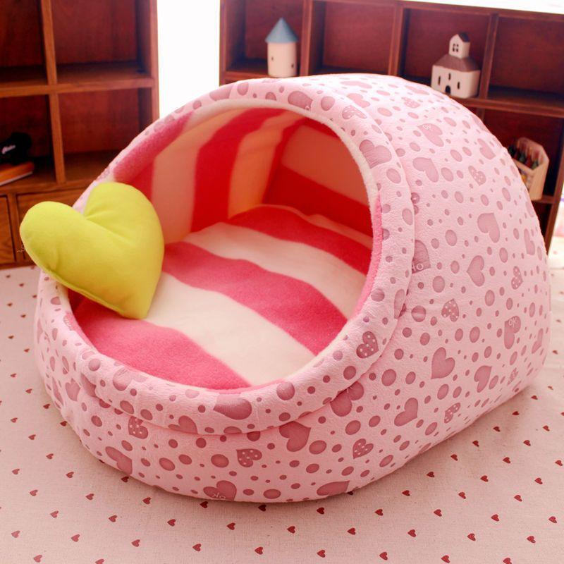 Chien chat maison lit nid petite niche à chien chenil mignon pantoufle conception Pet chien chaud lit de princesse lavable 5 Couleurs Livraison gratuite