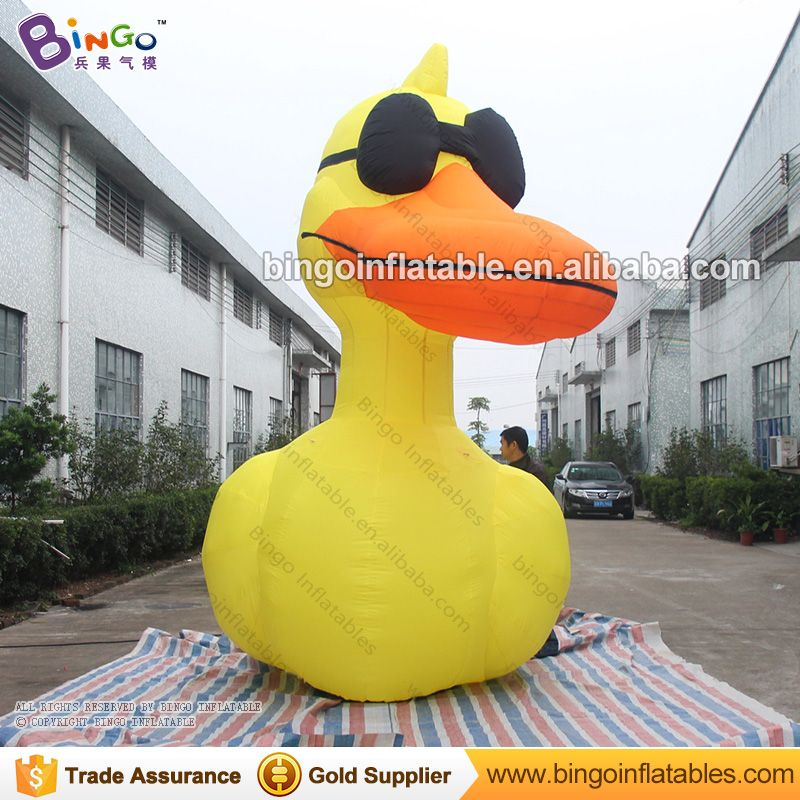 13ft inflatable Duck, yellow Duck with Sunglasses for event decoration -inflatable toy