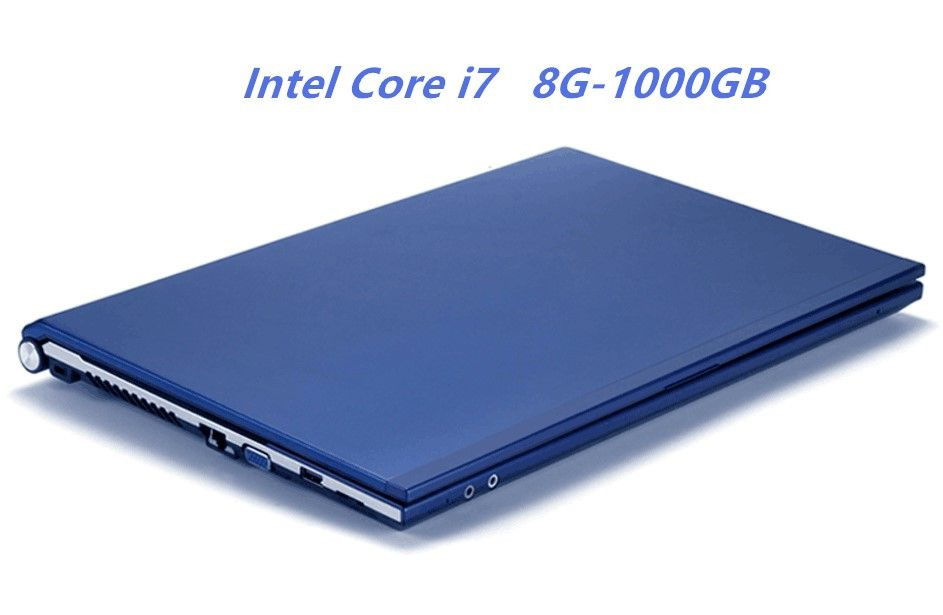 8 GB RAM + 1000 GB HDD Intel Core i7 Laptops 15,6