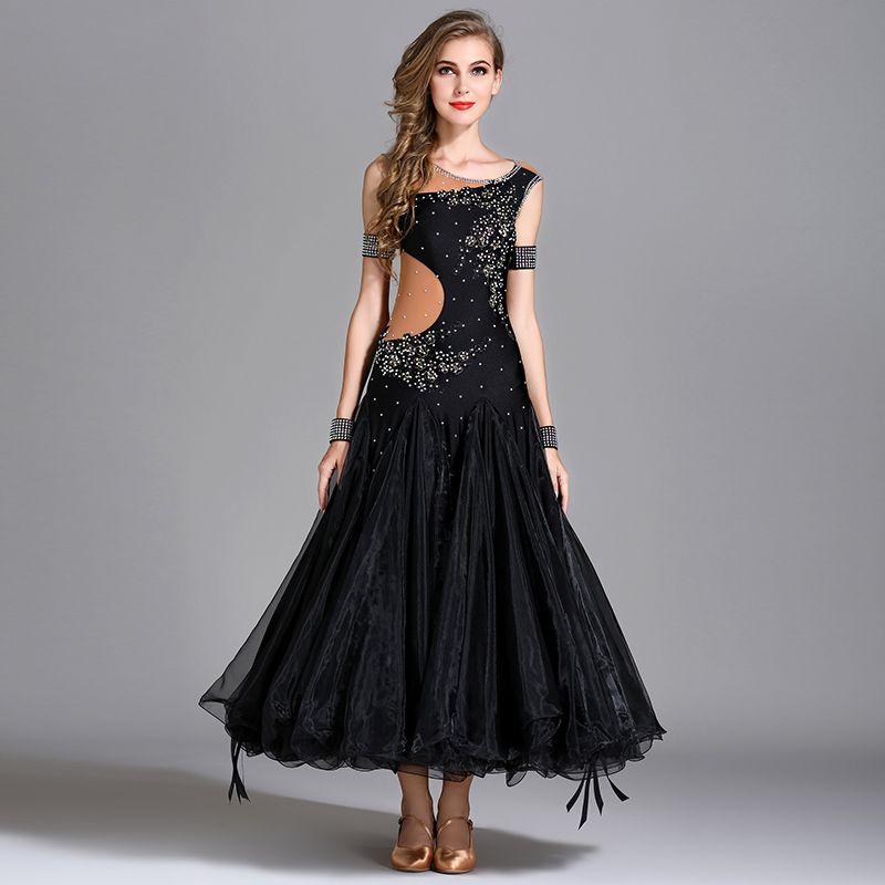 Standard Ballroom Dance Dresses 2018 New Arrange High Quality Waltz Dancing Skirt Cheap Ballroom Competition Dance Dress