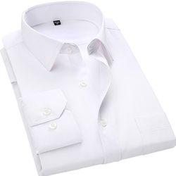 4XL 5XL 6XL 7XL 8XL Grande Taille Hommes de Business Casual Long Chemise à manches Blanc Bleu Noir Intelligent Mâle Robe Chemise Sociale Plus