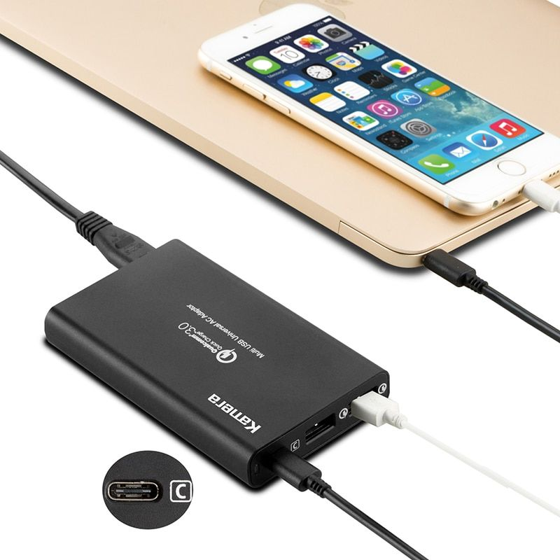 LVSUN quick universal notebook charger with type-c type c USB-C USB C laptop adapter for Macbook 12
