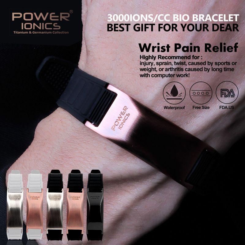 Bracelet en titane de sport de Style classique Ionics de puissance Bracelet d'équilibre de corps humain PT002-PT002Plus