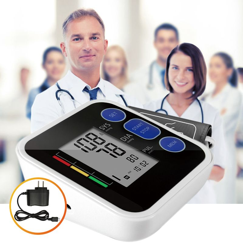 Cigii <font><b>Upper</b></font> Arm blood pressure Pulse monitor LCD Portable Home Health Care 1pcs Digital Tonometer Meter Pulse oximeter
