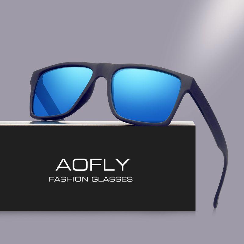 AOFLY Marque Classique Noir lunettes de Soleil Polarisées Hommes Conduite Lunettes de Soleil pour hommes Nuances Mode Masculine Oculos Gafas Lunettes AF8034