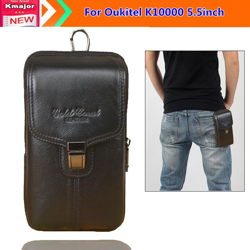 Genuine Leather Carry Belt Clip Pouch Waist Purse Case Cover for Oukitel K10000 5.5inch Cell Phone bag Free Drop Shipping