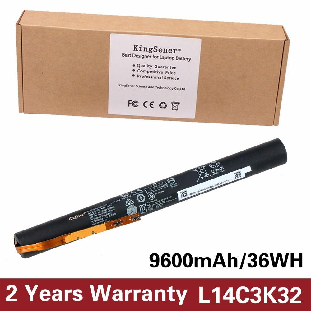 3.75 V 9600 mAh KingSener Nouveau L14C3K32 Batterie pour Lenovo YOGA Tablet 2 YT2-1050F YT2-1051F L14C3K32 Batteria Livraison 2 Année garantie