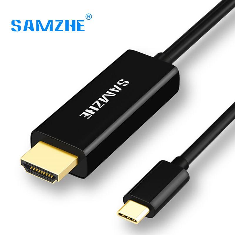 SAMZHE USB 3.1 USB C zu Hdmi-kabel Typ C zu HDMI Konverter 4 Karat 30Hz UHD Externe Video Graphics Verlängern Kabel/Adapter 1,2 mt
