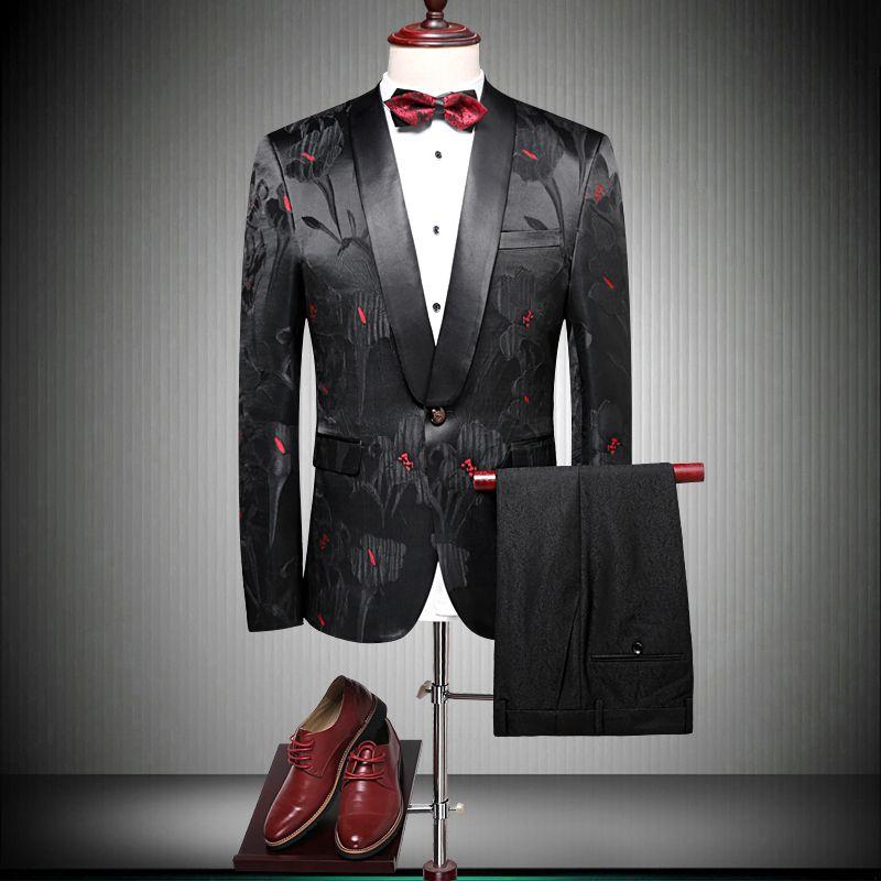 England Designer Anzüge Für Männer 2019 Neuesten männer Anzug Jacke Mit Hose smoking marke prom jacke mantel herren hochzeit schwarz 90080