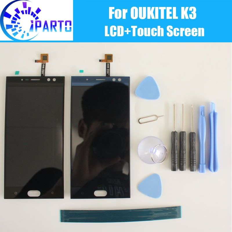 <font><b>Oukitel</b></font> K3 LCD Display+Touch Screen Assembly 100% Original Tested LCD Digitizer Glass Panel Replacement For <font><b>Oukitel</b></font> K3