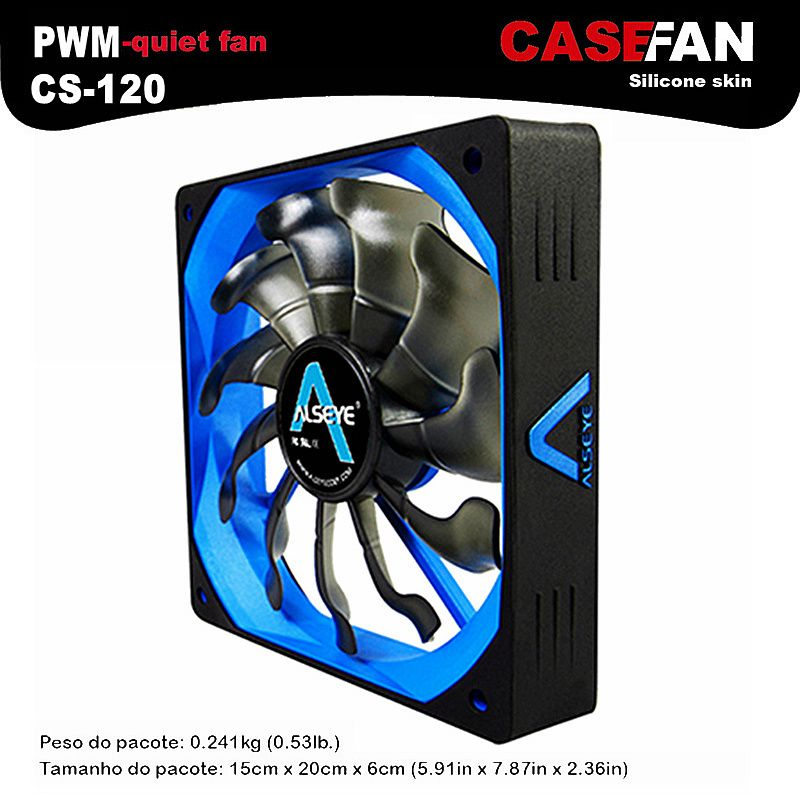 ALSEYE Refroidisseur Ventilateur pour Ordinateur, 120mm PWM 4pin Ventilateur pour CPU Refroidisseur/Radiateur/PC Cas, 12 V 500-2000 RPM Silencieux Ventilateurs De Refroidissement