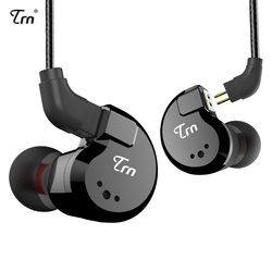TRN V80 2DD + 2BA Hybrid Di Telinga Earphone HiFi DJ Monitor Lari Sport Earphone Earplug Headset dengan 2PIN Dilepas TRN V20/V60