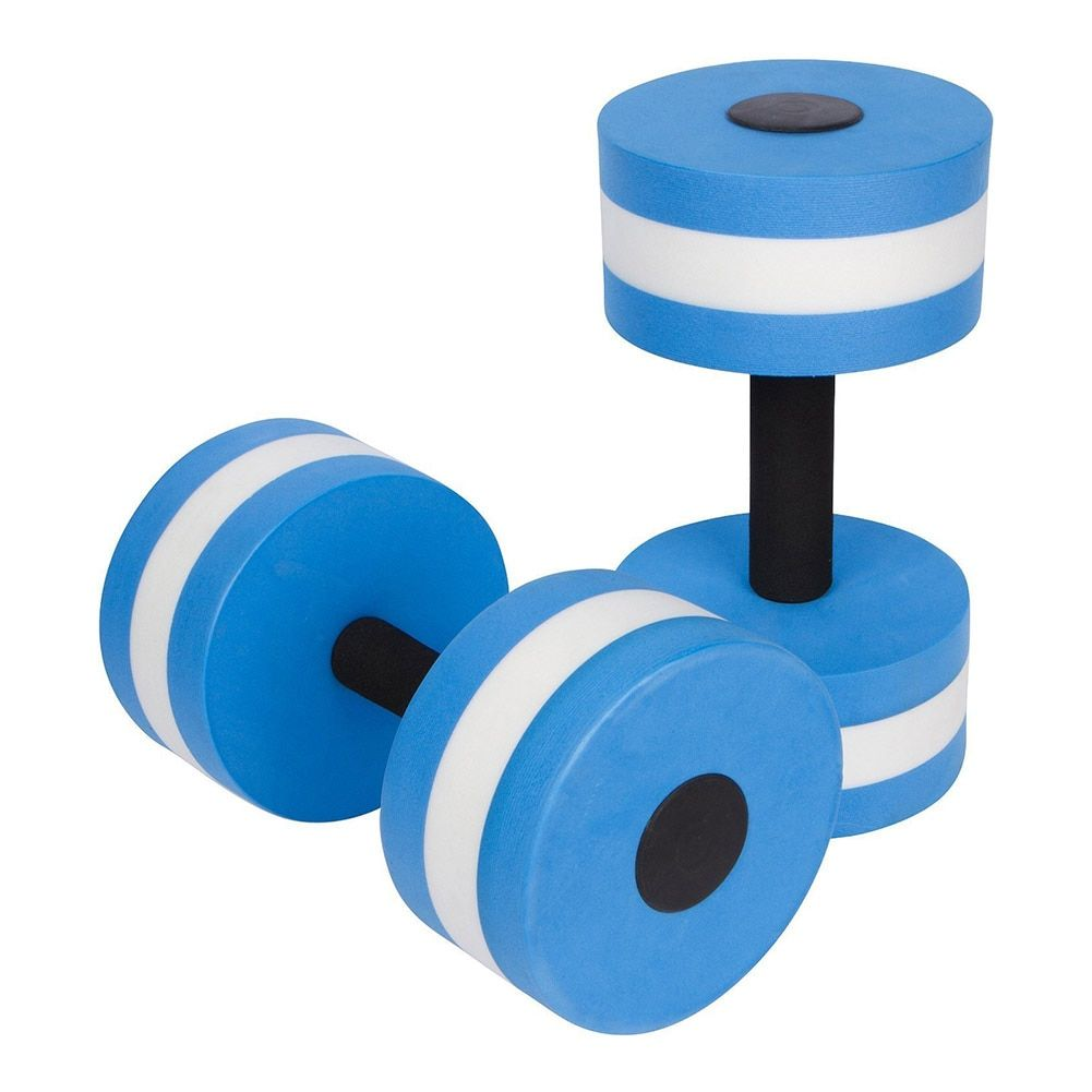 1 Pair Water Aerobics Dumbbell Aquatic EVA Barbell Aqua Fitness Pool Exercise Accessory B2Cshop