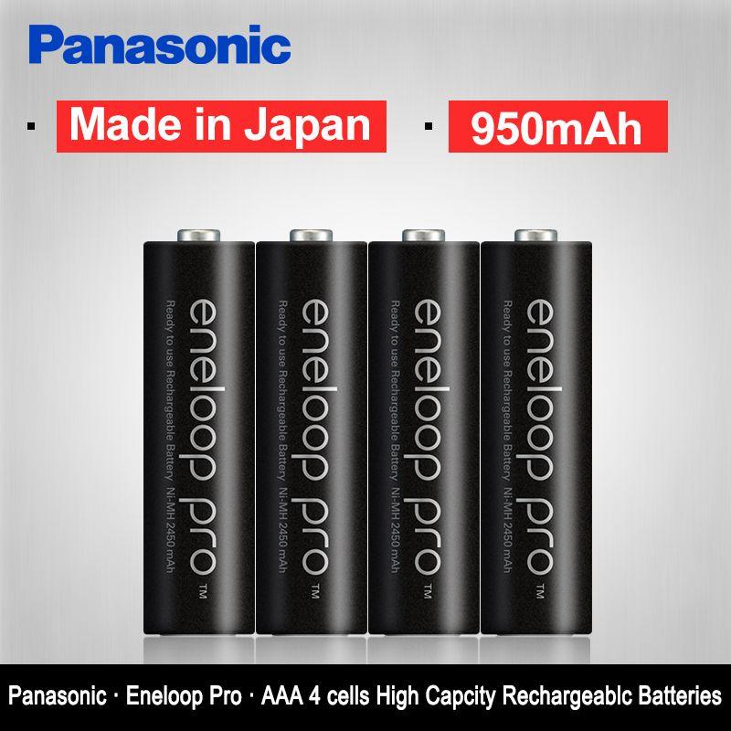 Original Panasonic Hot Sell 4PCS/LOT AAA Pre-Charged Rechargeable Batteries 1.2V 950mAh Ni-MH Battery eneloop Free Shipping