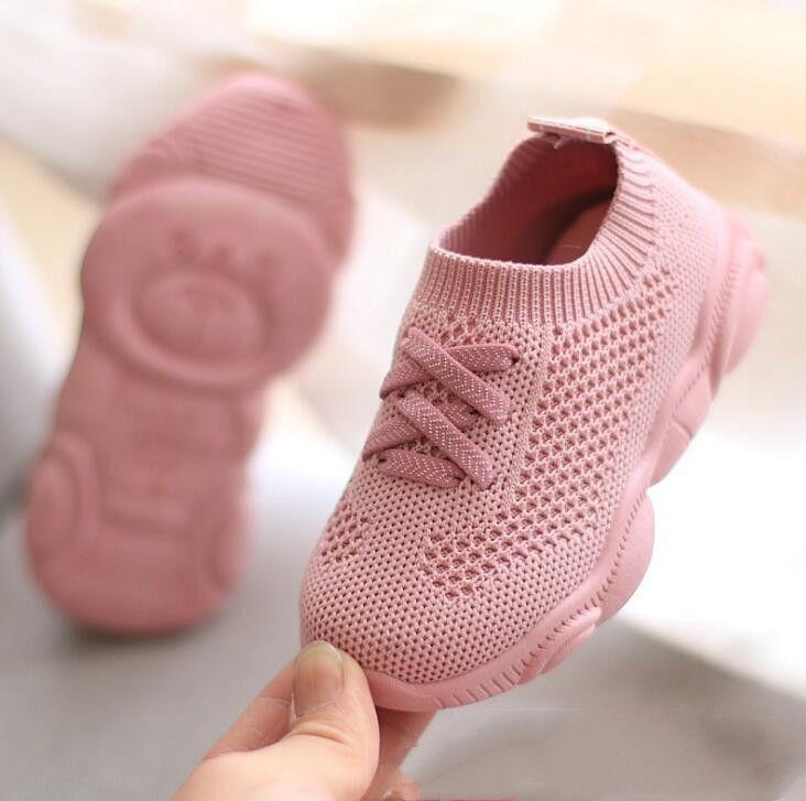 Chaussures enfants antidérapant fond souple bébé Sneaker décontracté chaussures de sport plates enfants taille filles garçons chaussures de sport