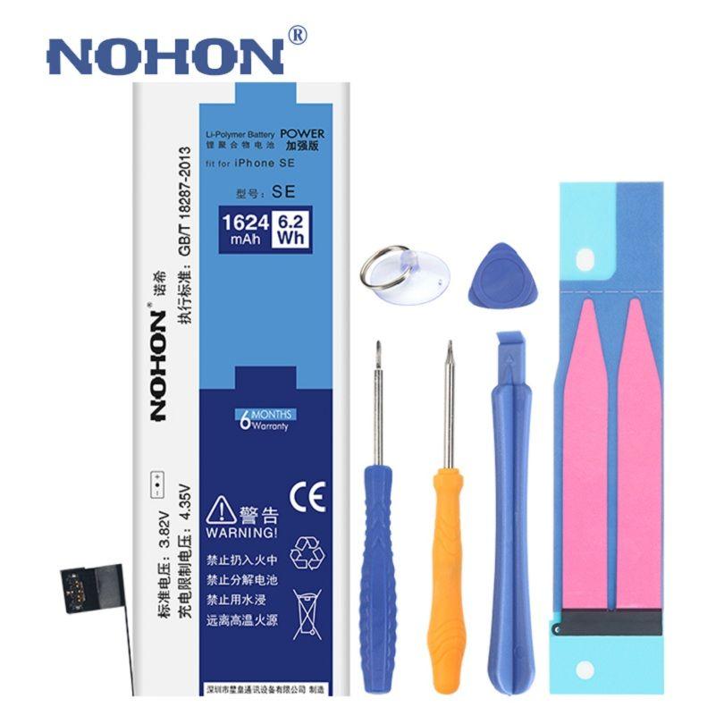 NOHON Li-polymère batterie pour apple iPhone SE 4S 5S 6 6 s iPhoneSE Haute Capacité Batteries + Outils Pour iPhone SE 4S 5C 6 6 S Batterie