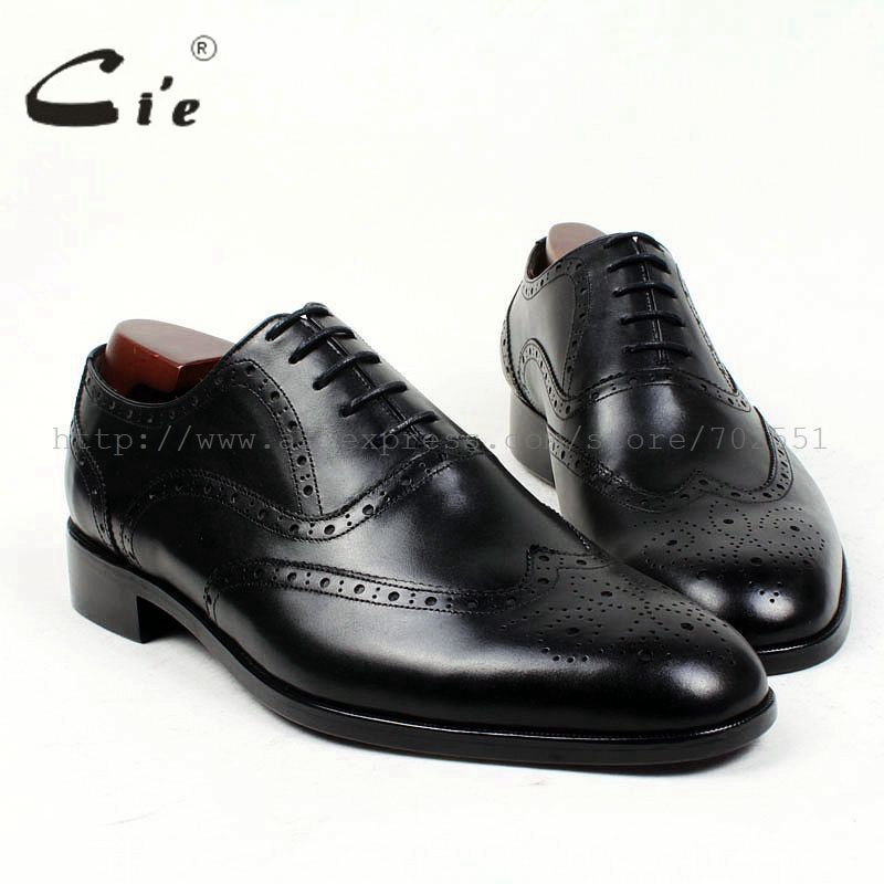 cie round toe brogues bespoke men shoe custom handmade pure genuine calf leather outsole men's dress oxford black flat shoeOX409