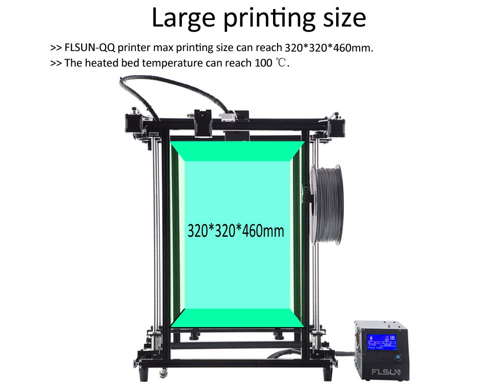 Flsun-G 3D Printer Large Printing Area 320*320*460mm High precision Support Flexibility Pre-assembly Metal Structure
