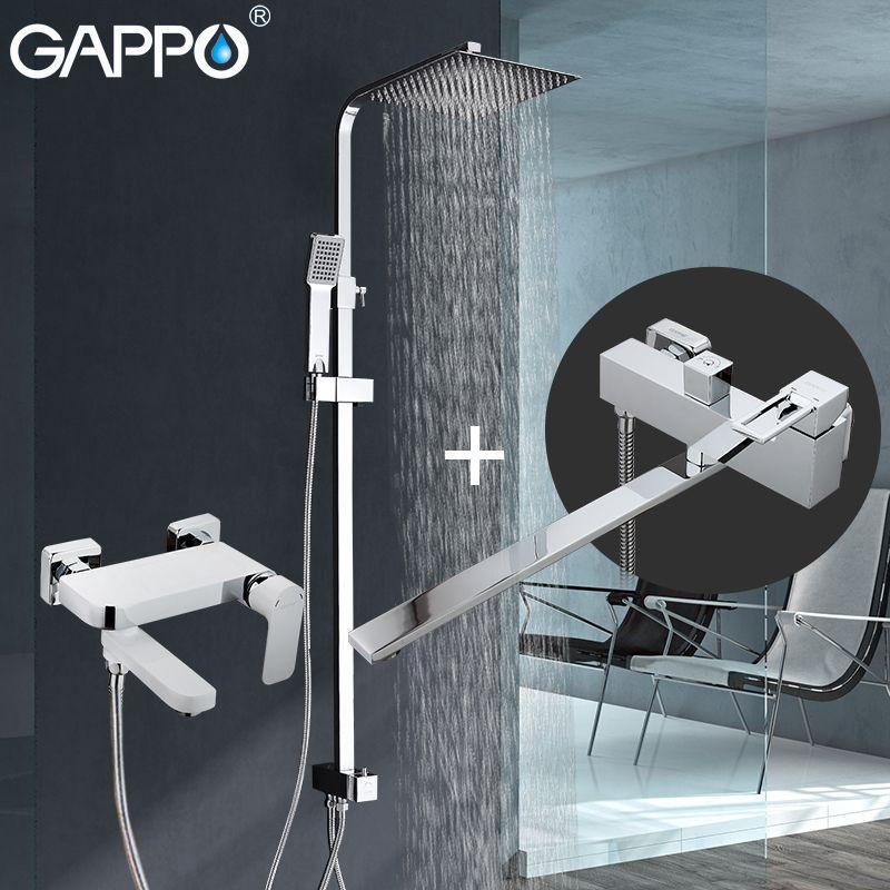 GAPPO dusche armaturen wasserfall armaturen bad dusche mixer wasserhahn badewanne messing niederschläge Badewanne wasserhähne dusche system