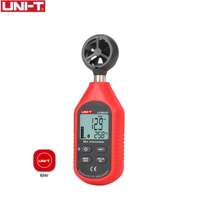 UNI-T UT363BT Mini Digital bluetooth Anemometer Pocket size Digital wind speed tester and Thermometer Upgraded from UT363