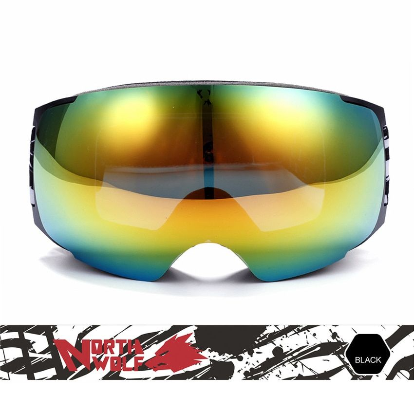 Men's Women Winter Big Ski Goggles Double Outdoor Sport Anti-fog Eyewear Snowboarding Cycling Skiing Hiking UV400 Glasses VK018