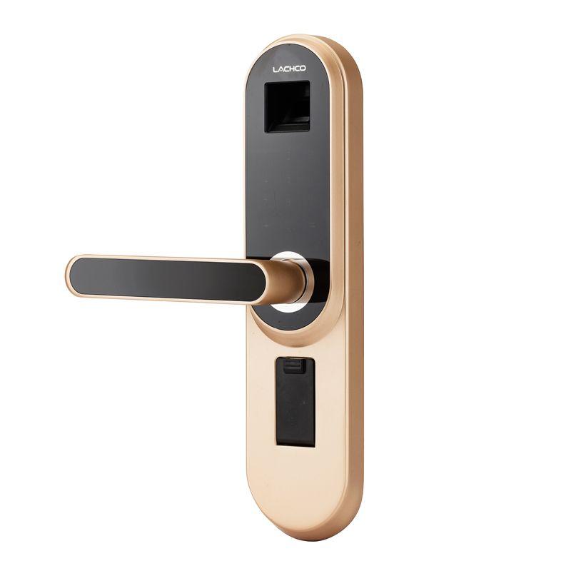 LACHCO Biometric Electronic Door Lock Smart Fingerprint, Code, Key Touch Screen Digital Password door Lock keyless entry L18013F