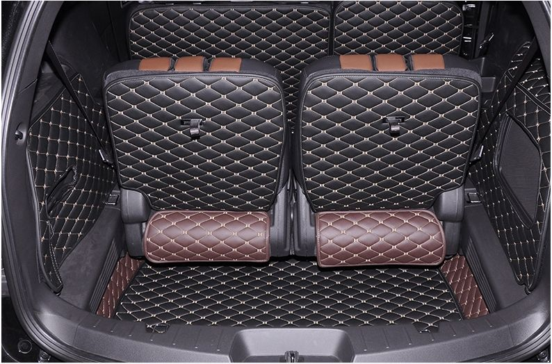 Good quality! Special car trunk mats for Ford Explorer 7seats 2017-2011 waterproof boot carpets cargo liner mats,Free shipping