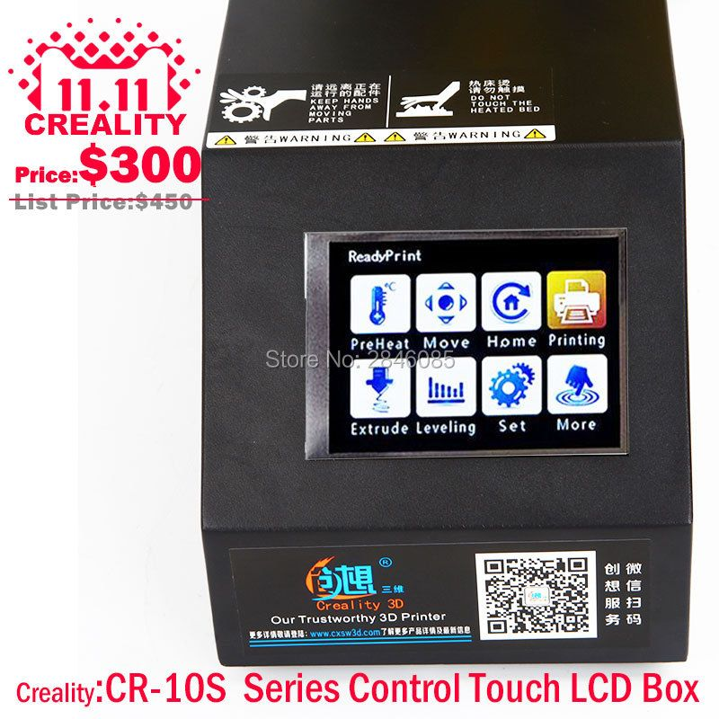 Factory Supply CREALITY 3D Printer Parts Full Assembled Control Box kit for CR-10/CR-10S 3D Printer Touch LCD 12864 LCD Optional