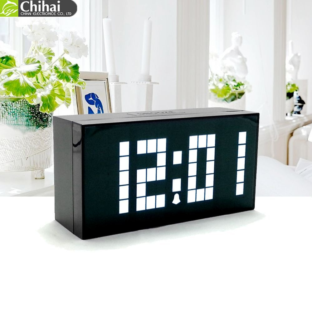 Alarm Digital Clock LED Table Clock Single Face Display Temperature Calendar Time Home Decor electronic desktop clocks