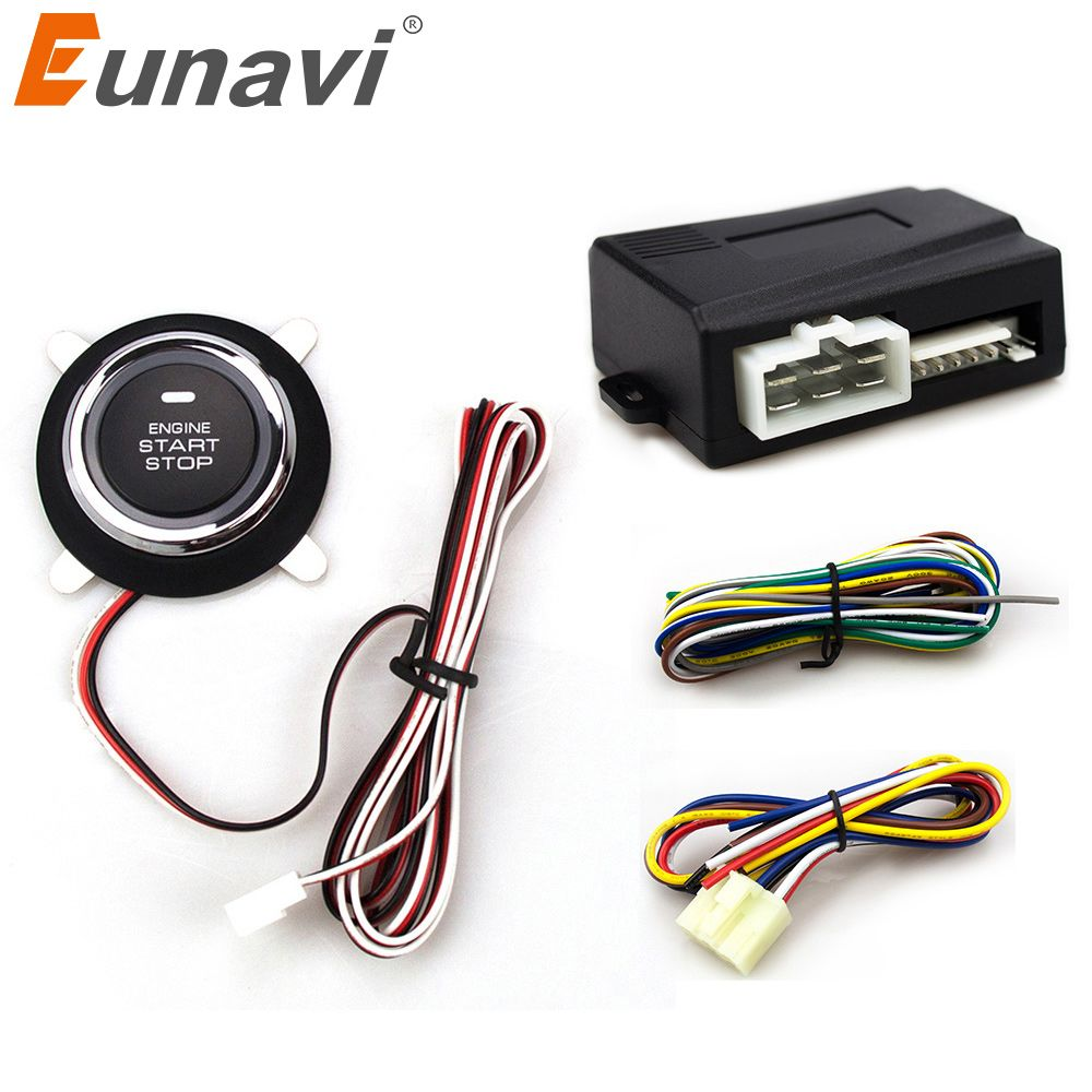 2017 Special Offer Time-limited Eunavi Car Alarm With Push Start Button And Transponder Immobilizer System Engine Stop