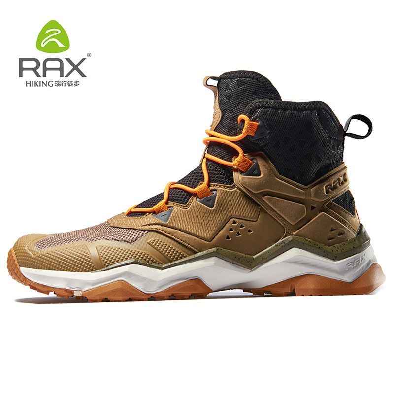 RAX Men Winter Outdoor Sports Shoes Hiking Boot Warm Mountain Trekking Anti-slip Shoes Outdoor Comfortable Shoes with Fur Lined