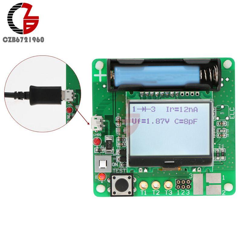 12864 LCD Display ATmega328 Transistor Tester Diode Triode Capacitance ESR Meter/MOS/PNP/NPN M328 Multifunction Meter