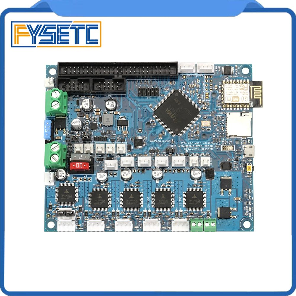 Newest Version Duet 2 Wifi V1.04 Upgrades Controller Board Cloned DuetWifi Advanced 32bit Motherboard For 3D Printer CNC Machine