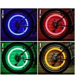 Велосипедные аксессуары велосипедные фары цветные светодио дный велосипедные фары автомобильные шины велосипедные колеса колпачки спицы ...