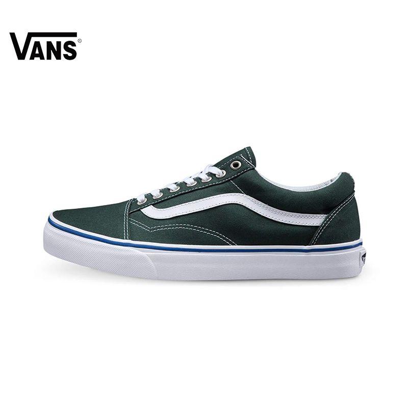 Original New Arrival Vans Men's & Women's Classic Old Skool Low-top Skateboarding Shoes Sport Outdoor Canvas Sneakers