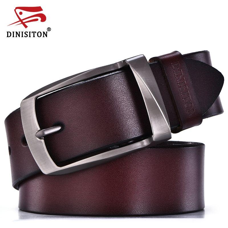 DINISITON дизайнерские свободные ремни для мужчин высокое качестве пояс из натуральной кожи модной ремень мужские ремни воловьей кожи для джин...