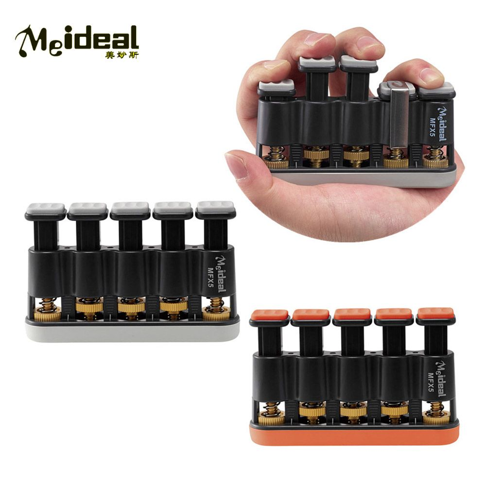 Meideal MFX5 Adjustable Guitar Hand Finger Exerciser Exercises Strengthener Tension Hand Grip Trainer Bass Guitar Piano Parts