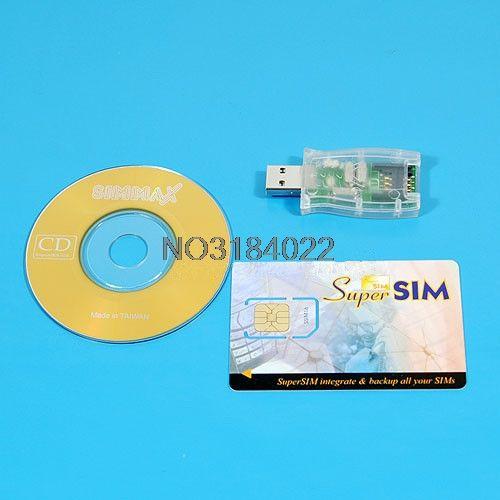 USB 16in1 Sim-kartenleser Schriftsteller Cloner Backup-CD # 4XFC # Tropfenverschiffen