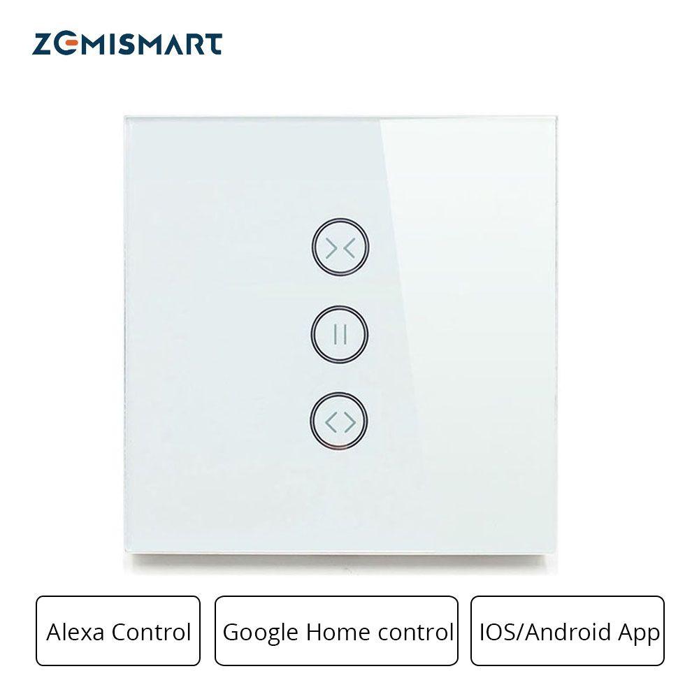 Zemismart Google Home Alexa Echo Curtain Switch Blind Switches For Standard Roller Motor Slide Engine Wifi APP Siri Control