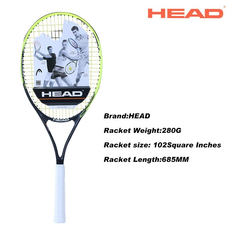HEAD 2# Racket Surface Tennis Rackets Professional Training Rackets For Men Tennis Top Quality Women Tennis Racquets With Bags