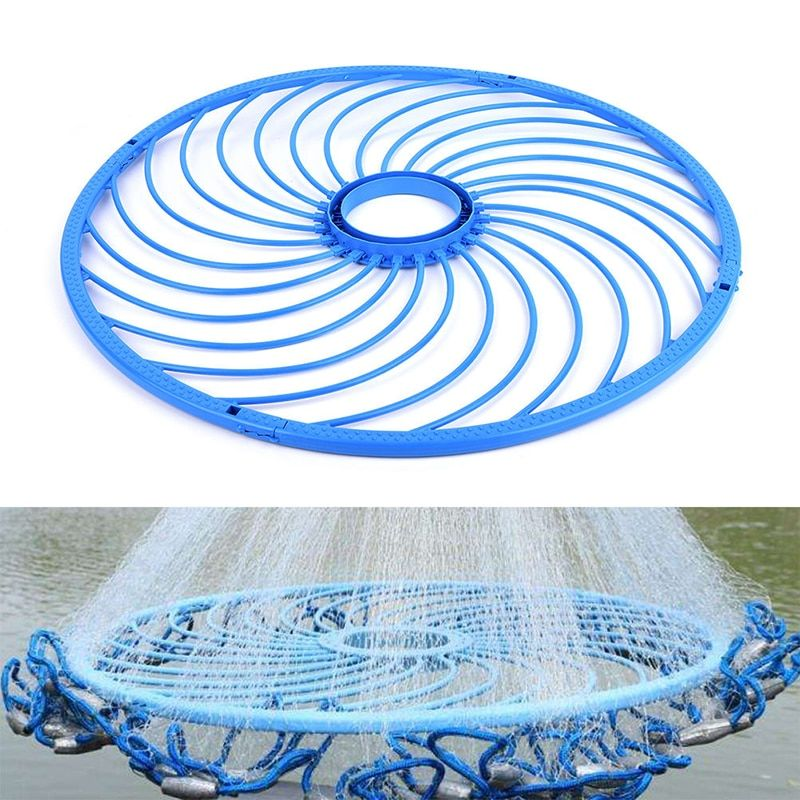 Fishing Network 48cm Carp Fly Cast Net Fishing Tool Supplies Accessory Catch Super Trap Nets Hand Rope Ring