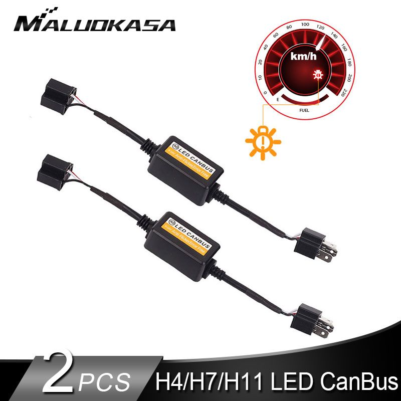 2PCS H7 LED Canbus Error Free Decoder for H4 LED Headlight Bulb Kits for SUV Fog Lamps H1 H8 H11 HB3 HB4 Adapter Anti-Flicker