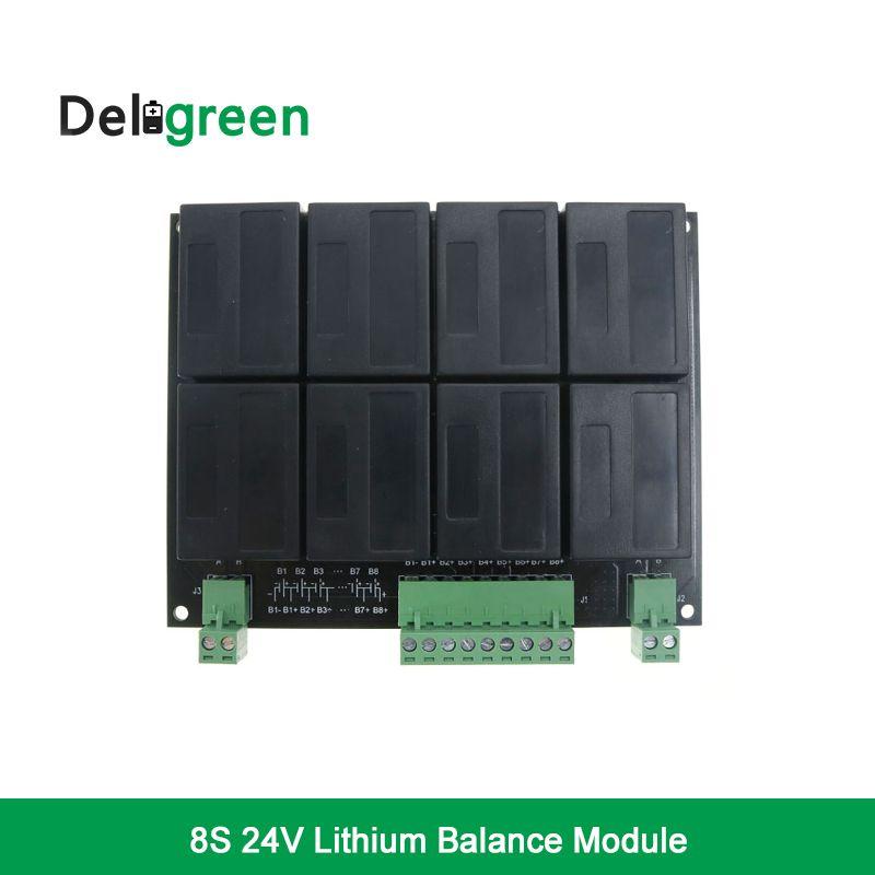 8S/24V QNBBM Lithium Battery Equalizer Balancer BMS for LIFEPO4,LTO NCM LMO 18650 DIY Pack