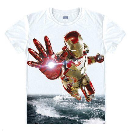 Avengers T Shirt Ironman Captain America Iron hommes Hawkeye noir veuve Marvel T-shirt Super héros sur mesure impression 3D T-shirt