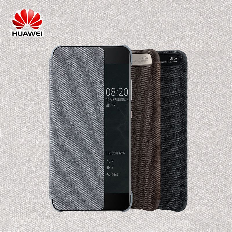 2017 New Original Official Huawei P10 P10 Plus Smart Leather Flip Case View Window Sleep Wake Up Cover for P10 P10 Plus