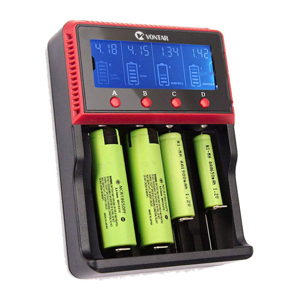 VT4 VT2 Plus LCD 12V Battery Charger Charging for Rechargeable Battery LI-ion NiMH AA AAA 26650 <font><b>14500</b></font> 22650 18650 PK Lii-500 Sc4