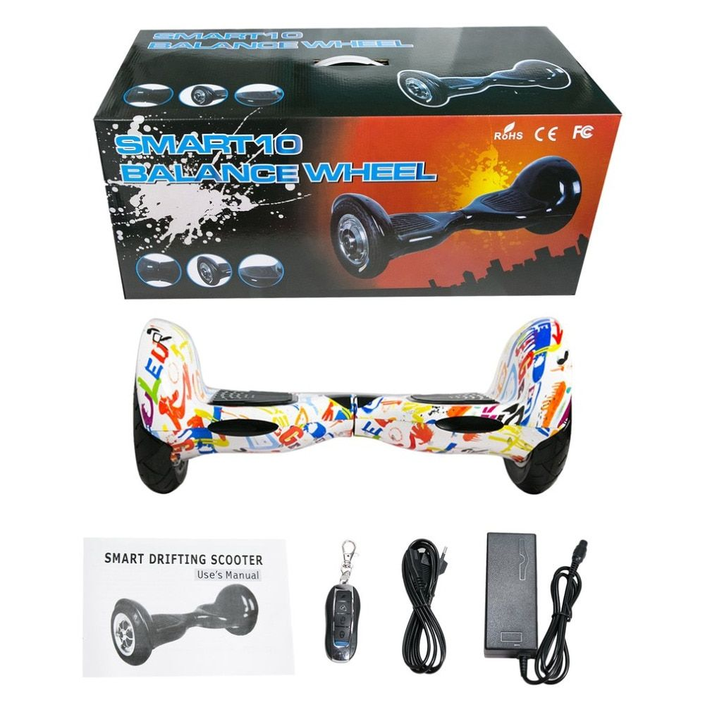 hoverboard 10 Inch Tyre Two Wheels Bluetooth Self Balance Scooters Smart Hover Board Perfect Gift EU Plug free shipping