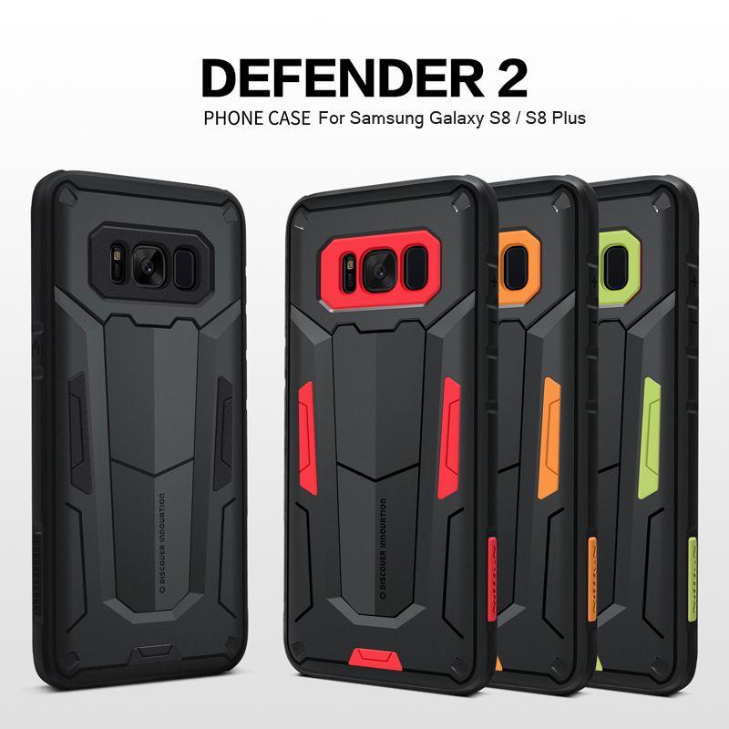 Pour Samsung Galaxy S8 étui S8 Plus couverture arrière Nillkin Defender 2 Ultra Slim armure TPU + PC téléphone hybride étuis pour Samsung S8 Plus