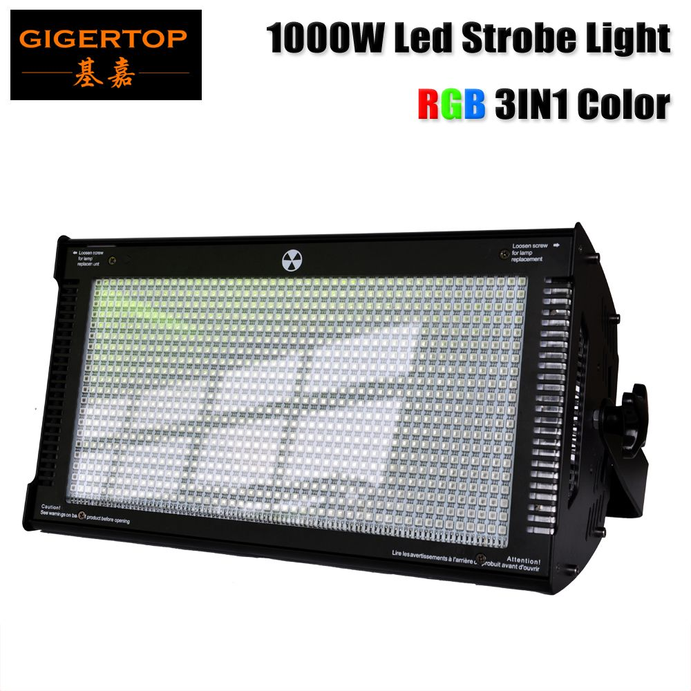 Gigertop 1000 W Cree LED strobe licht für dj disco party-licht für bühne club licht RGB Farbe Mischen blinder Wirkung