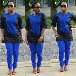 H & D 2018 femmes Africaines Africains de vêtements ensemble Traditionnel riche bazin broderie conception robes bleu noir lady top avec pantalon